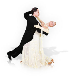 Photo of couple performing a Viennese Waltz