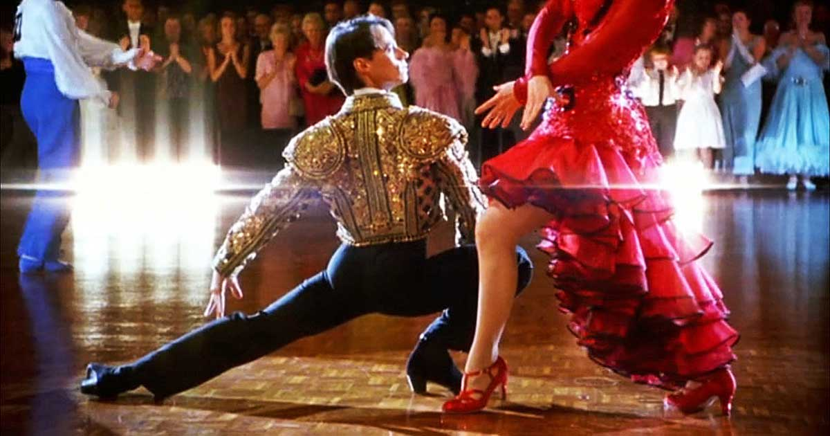 Shot from a dance film - Strictly Ballroom