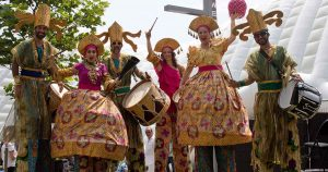 The dance on stilts in Spain